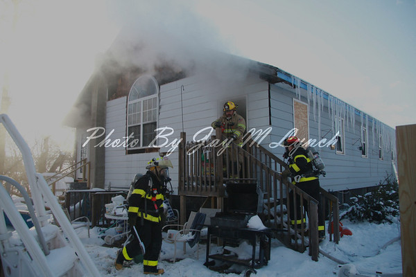 Leicester, Cuylerville FD's - House Fire - 1804 Perry Rd - March 24, 2011