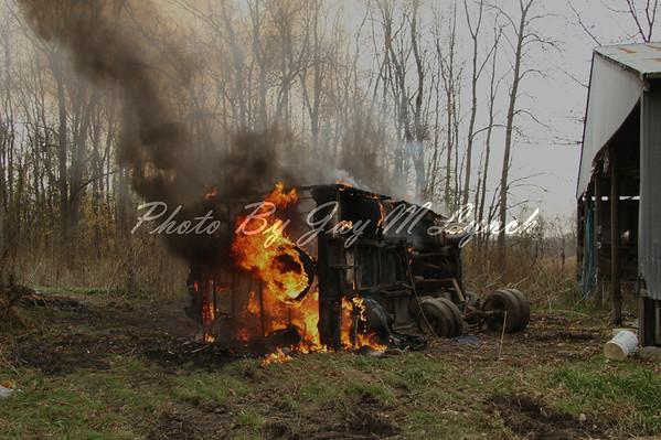 Town of Batavia FD - R V Fire - 9262 Dorman Rd - November 3, 2011