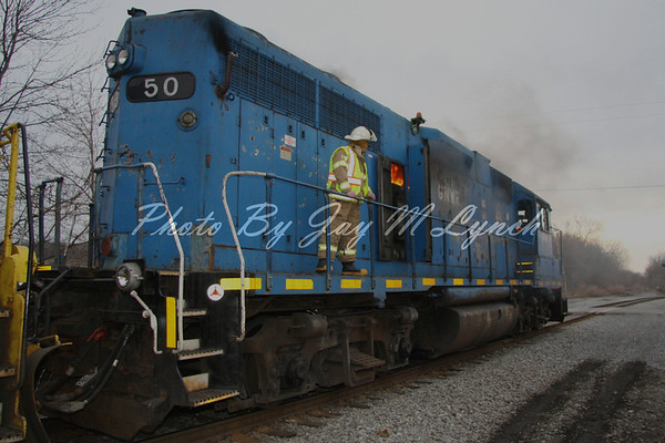 York FD - Locomotive Fire - Old State Rd - March 15, 2011