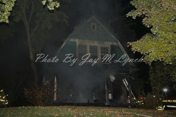 Groveland FD - House Fire - 4621 Church St - October 29, 2016