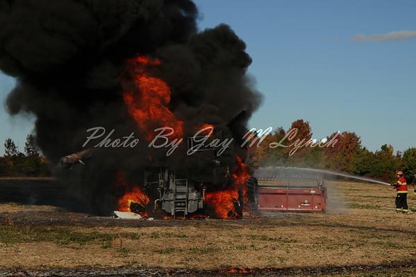 Mount Morris FD - Combine Fire - Barron Rd - October 14, 2016