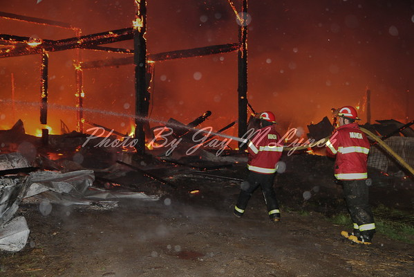 Nunda FD - Barn Fire - 1493 State Route 70 - May 13, 2016