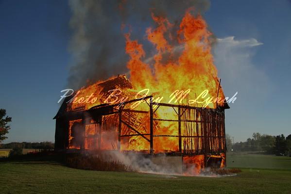 York FD - Controlled Burn - 2288 Genesee St - September 25, 2016