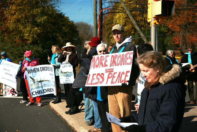 This day was the anniversary of our monthly vigil against the use of killer drones by the CIA.