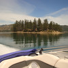 There are a few small islands which can serve as day camp sites for boaters.