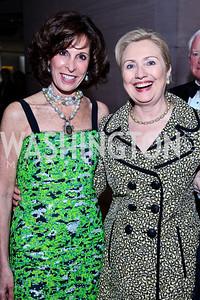 Beth Dozoretz, Sec. Hillary Rodham. Clinton. Photo by Tony Powell. FAPE Dinner. East Wing Art Gallery. May 19, 2011