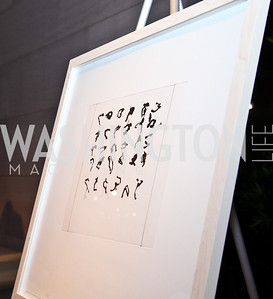 Print by Brice Marden. Photo by Tony Powell. FAPE Dinner. East Wing Art Gallery. May 19, 2011