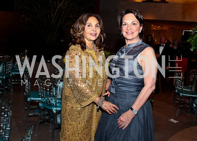 Samia Farouki, Grace Bender. Photo by Tony Powell. FAPE Dinner. East Wing Art Gallery. May 19, 2011