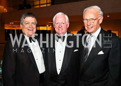 Ken Duberstein, Rusty Powell, Roger Sant. Photo by Tony Powell. FAPE Dinner. East Wing Art Gallery. May 19, 2011