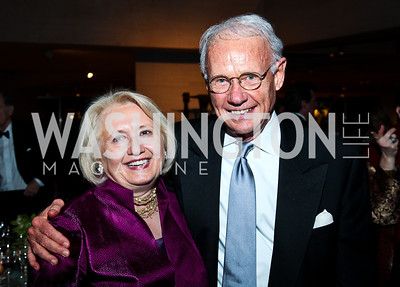 Melanne Verveer, Roger Sant. Photo by Tony Powell. FAPE Dinner. East Wing Art Gallery. May 19, 2011