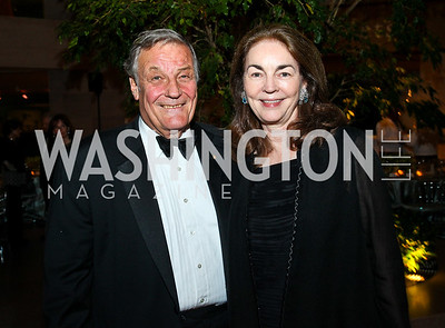 Band Leader Peter Duchin, Virginia Coleman. Photo by Tony Powell. FAPE Dinner. East Wing Art Gallery. May 19, 2011