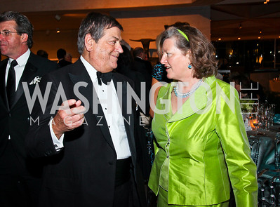 Ken Duberstein, Amanda Downes. Photo by Tony Powell. FAPE Dinner. East Wing Art Gallery. May 19, 2011