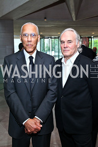 Artists Martin Puryear, Brice Marden. Photo by Tony Powell. FAPE Dinner. East Wing Art Gallery. May 19, 2011