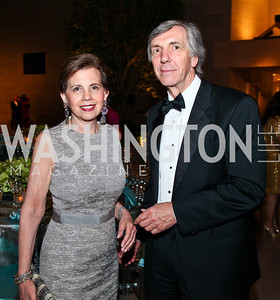 Adrienne Arsht, Lin Lougheed. Photo by Tony Powell. FAPE Dinner. East Wing Art Gallery. May 19, 2011