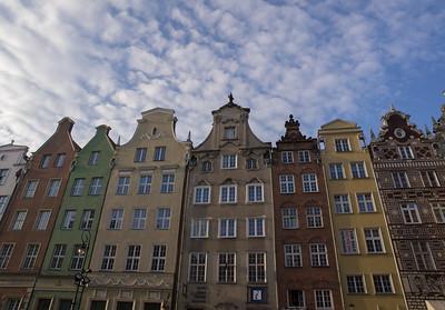 Nogle af de markante facader i Gdansk.