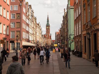 Hovedgaden 'Dlugi Targh' i Gdansk