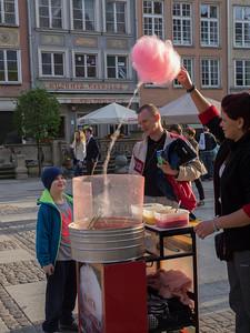 Candyfloss sælger i Gdansk.