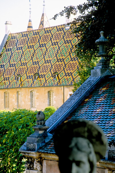 A tiled church roof - Provence, France