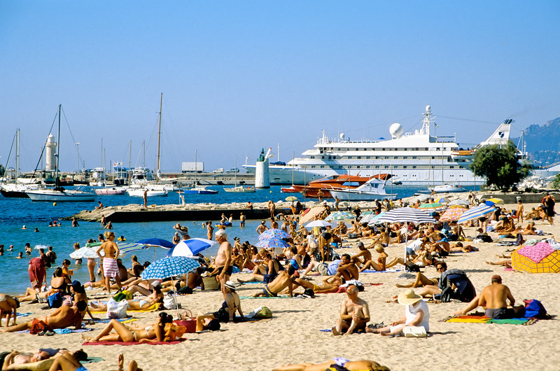 On the beach in the French Riviera - Marseilles, France