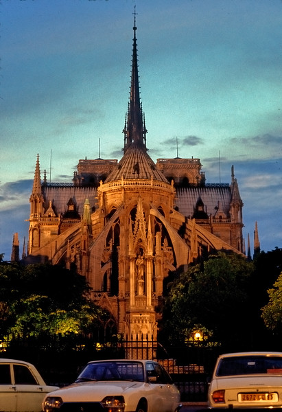 Notre Dame at dusk - Paris, France