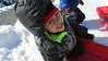 039 Thomas sled in KC.  One happy kid in the snow - hey, I mean there is no school today, RIGHT?