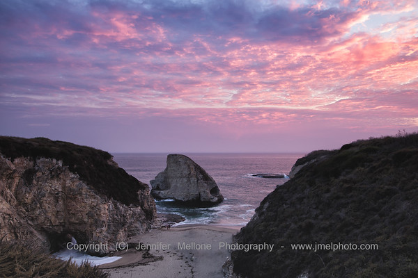 Shark Fin Cove Sunset on a Hot Day