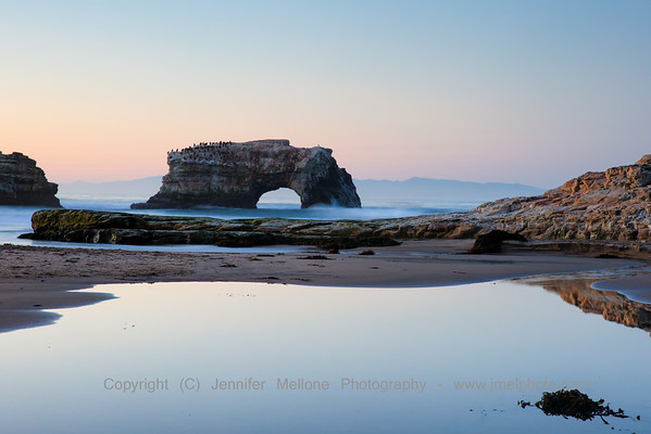 Natural Bridges with River Pool Sunrise