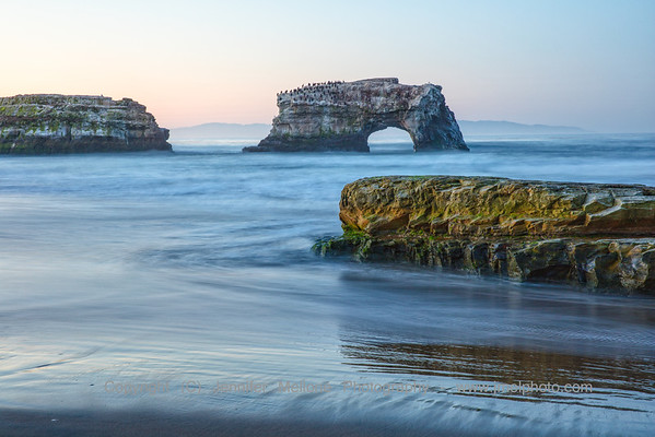 Natural Bridges with Mossy Rock Sunrise