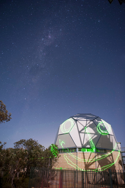 20 second exposure at ISO1600, light painting on the dome.