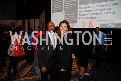 Clarence Davis,Carolyn Markey,GM's Table of Brotherhood at D.C.Convention Center ,August 26.2011,Kyle Samperton
