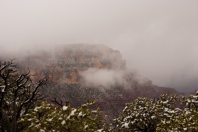 Fog Hanging Over The South Rim