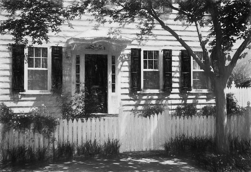 Charleston Cottage B&W