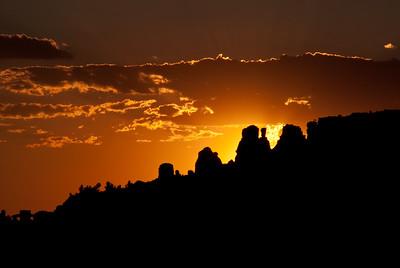 Sunset at Cockscomb Mountain