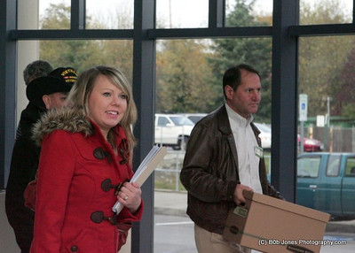 Gateway Pacific Terminal and supporters  delivered support petitions