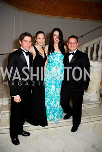 Glen Russo, Katherine Foley, Caolyn Shanaulan, Michael Clark, Georgetown University Diplomatic Ball, April 8, 2011, Kyle Samperton