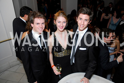 Tommy Larson, Jessica Robbins, Dane Shikman, Georgetown University Diplomatic Ball, April 8, 2011, Kyle Samperton