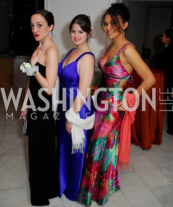 Maria Zoulis, Sarah Fox, Elizabeth Sabol-Jones, Georgetown University Diplomatic Ball, April 8, 2011, Kyle Samperton