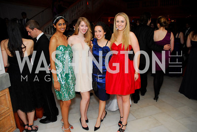 Megha Motei, Carolyn Cannella, Ellen Ebert, Sophie Bouex, Georgetown University Diplomatic Ball, April 8, 2011, Kyle Samperton