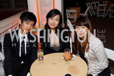 Kevin Seu, Eunjoo Lee, Hae Si Lee, Georgetown University Diplomatic Ball, April 8, 2011, Kyle Samperton