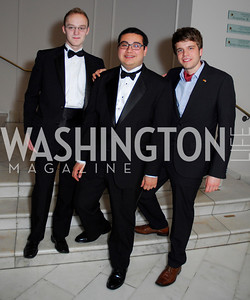 Josh Mogil, Carlos Reyes, Lucas Stratmann, Georgetown University Diplomatic Ball, April 8, 2011, Kyle Samperton