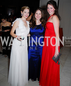 Lizzie Griesediezk, Kelly McKenzie, Meghan O'Connor, Georgetown University Diplomatic Ball, April 8, 2011, Kyle Samperton
