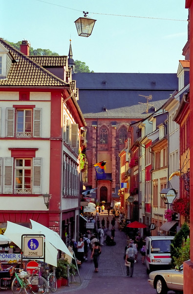 Town center - Rhine River - Germany