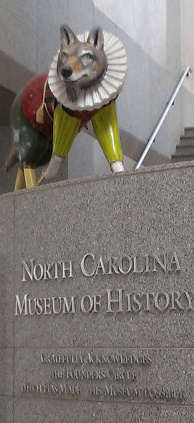 NC Museum of History Lobby Wolf 1 February 2 2013 with Pat, Ruth, Virginia and Anne