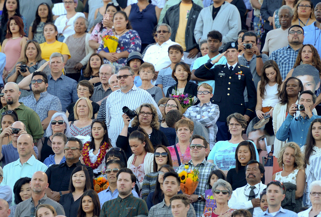 . Millikan High School class of 2017 graduation at Veterans Memorial Stadium in Long Beach June 15, 2017. (Photo by Thomas R. Cordova, Press-Telegram/SCNG)