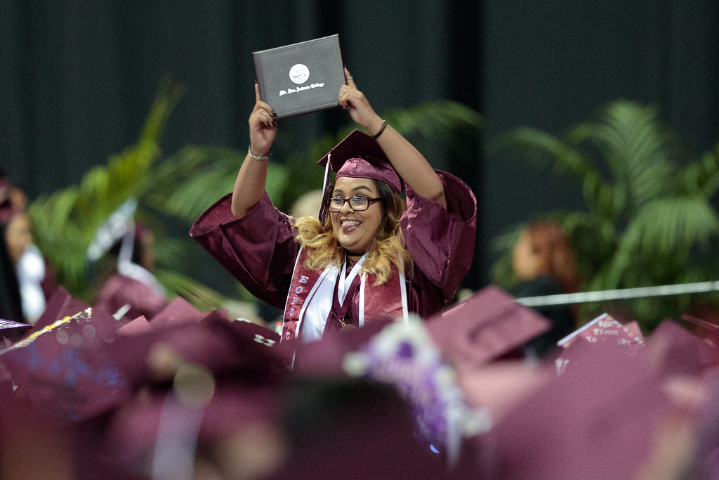 . Mt. San Antonio College 2017 Commencement Ceremony at the Citizens Business Bank Arena in Ontario, Calif., on Sunday June 18, 2017. (Photo by Raul Romero Jr, SCNG)