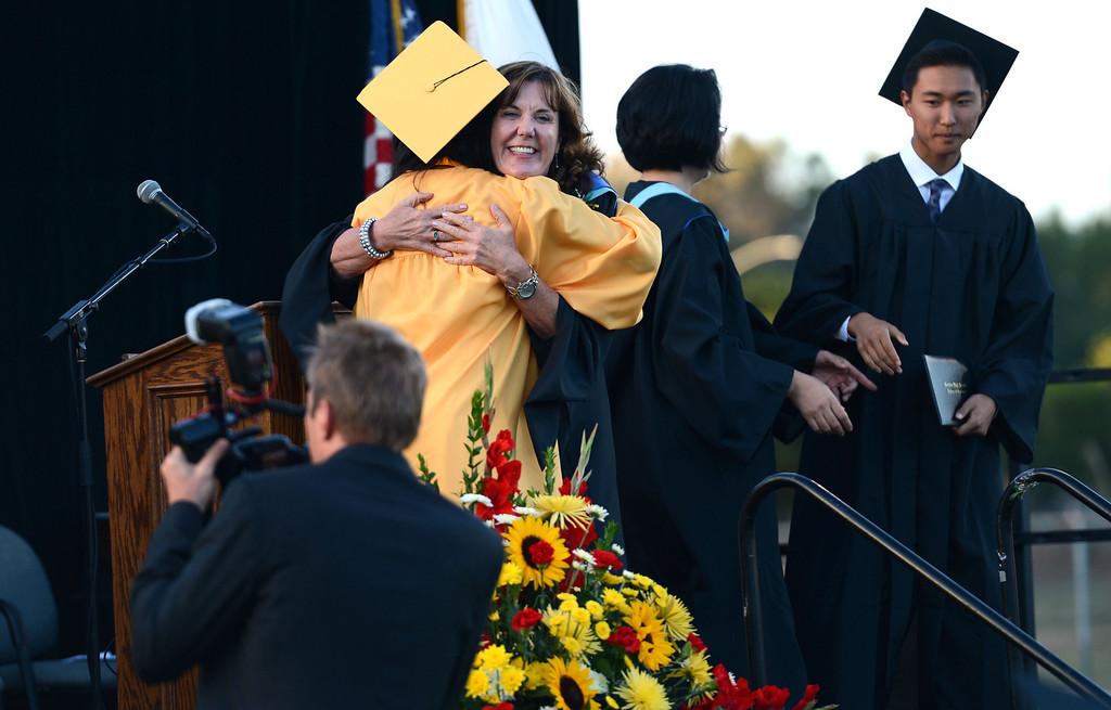 . Cerritos High School graduation ceremony, held at Gahr High School. Cerritos Calif., Tuesday June17,  2014.     (Photo by Stephen Carr / Daily Breeze)