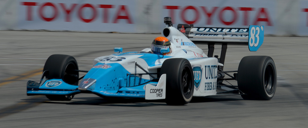. Matthew Brabham qualifies in third plac in the Indy Lights qualifying round in the 40th Annual Toyota Grand Prix of Long Beach in Long Beach, CA. on Saturday April 12, 2014. (Photo by Sean Hiller/ Daily Breeze).