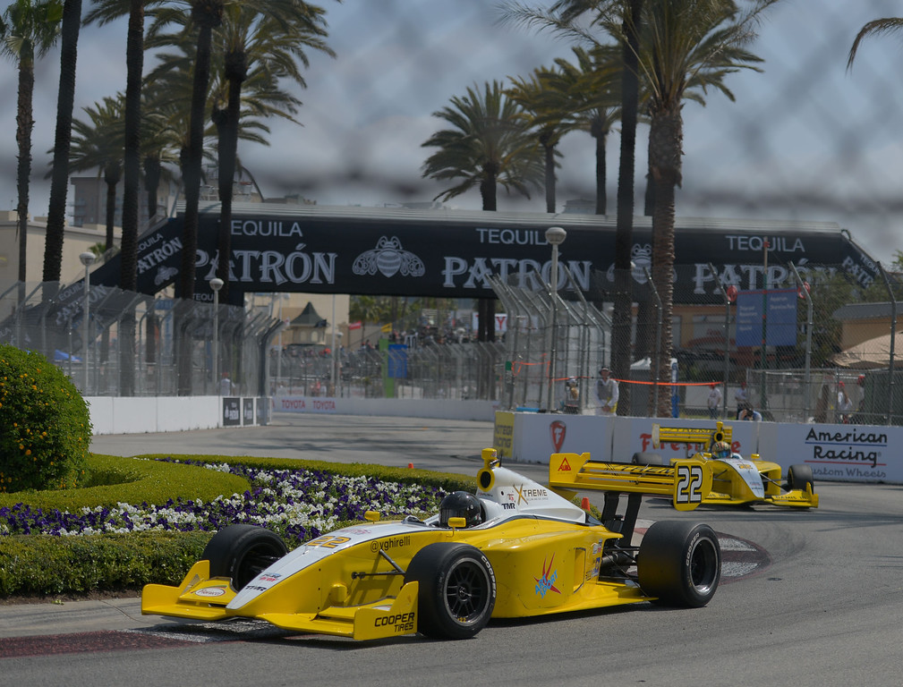 . Vittoria Ghirelli in the Indy Lights qualifying round at the 40th Annual Toyota Grand Prix of Long Beach in Long Beach, CA. on Saturday April 12, 2014. (Photo by Sean Hiller/ Daily Breeze).