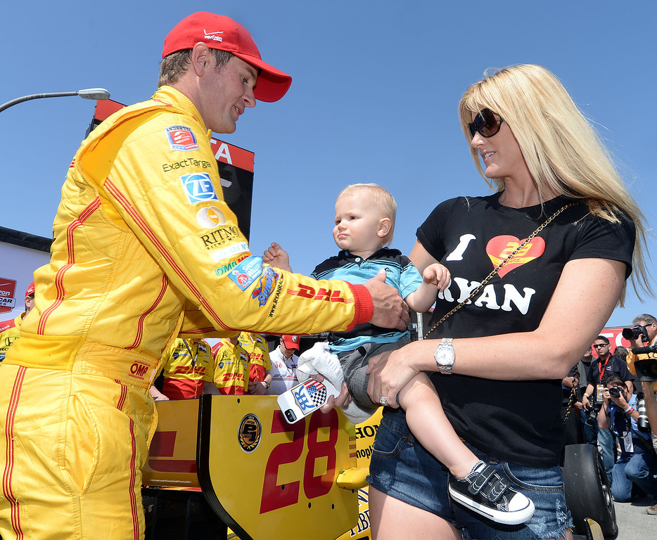 . Indycar driver Ryan Hunter-Reay wins the pole Saturday April 12, 2014 for Sunday\'s 40th Toyota Grand Prix of Long Beach.  (Will Lester/Inland Valley Daily Bulletin)