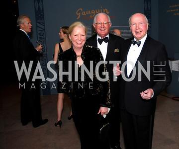 Becky Dye, Alan Dye, Robert Duemling, February 23, 2011, Gauguin Opening, Kyle Samperton